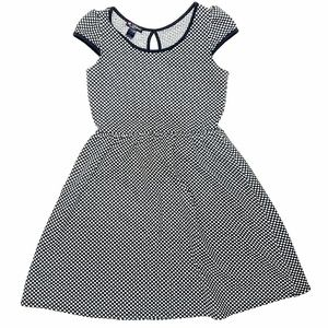Delirious Fit and Flare Cap Sleeve Polka Dot Dress
